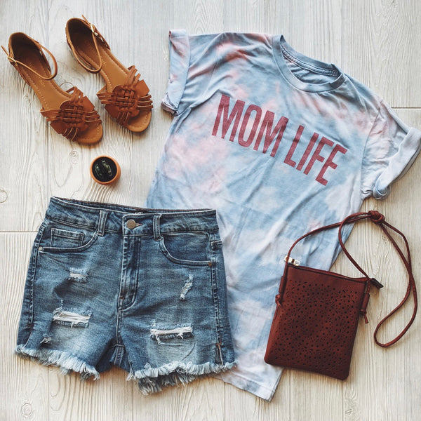 MOM LIFE • Coral Tie-Dye