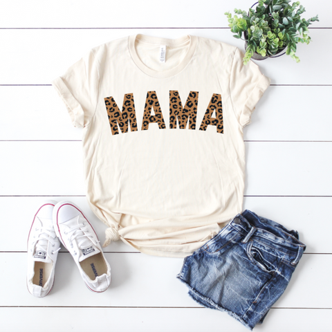 MAMA Cheetah • Cream Tee