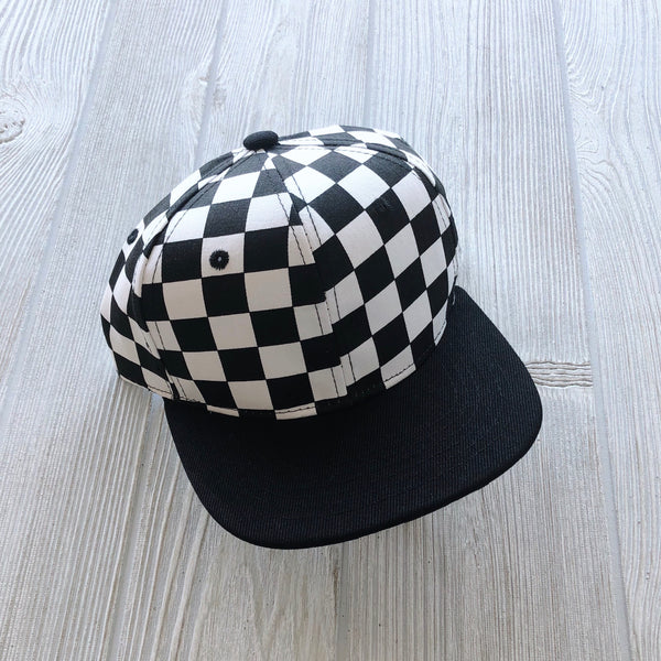 Checkered Kids Snapback • More Sizes!