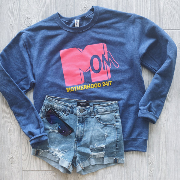 MTV Motherhood • Denim Pullover