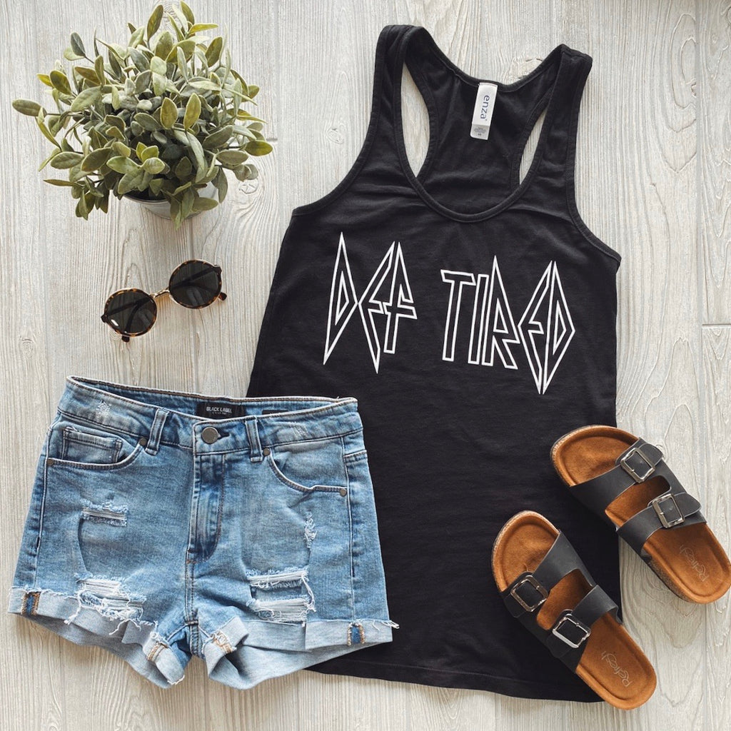 Def Tired • Black Tank