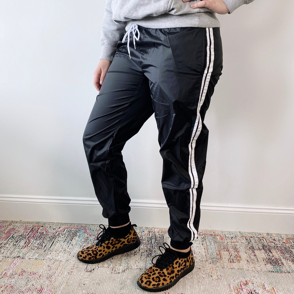 Double Striped Waterproof Joggers • 2261