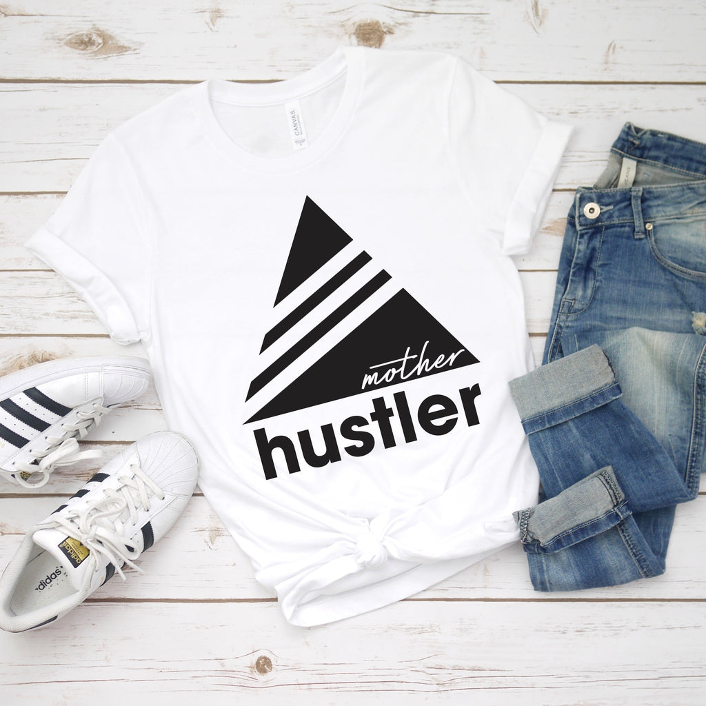 Triangle Hustler • White Tee