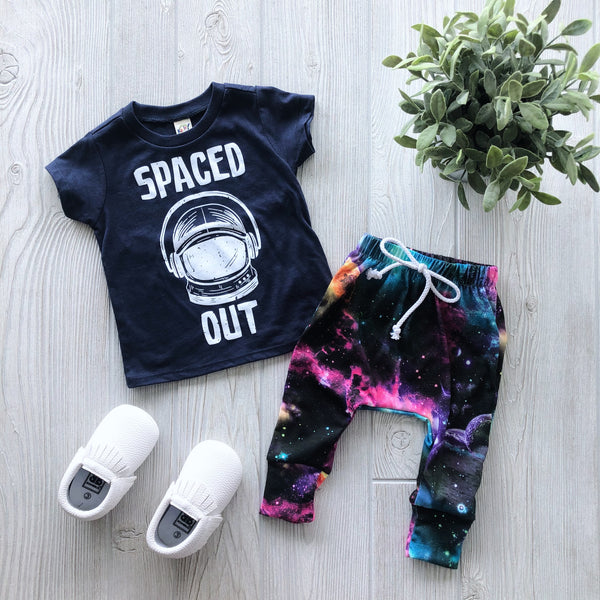Spaced Out • Navy Tee