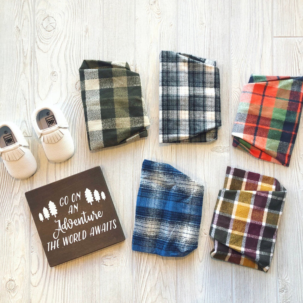 Mixed Plaid • Kids Scarves