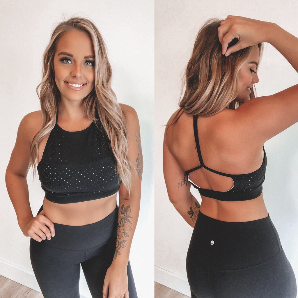 Perforated High Neck • Sports Bra