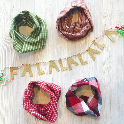 Christmas Plaid • Kids Scarves