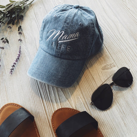 Mama Life Hat • Denim
