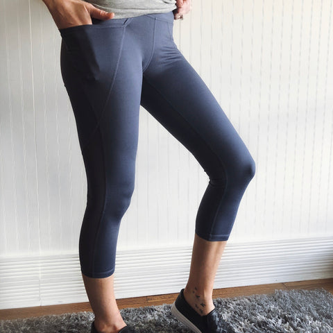 Indigo Pocket Leggings • Crop