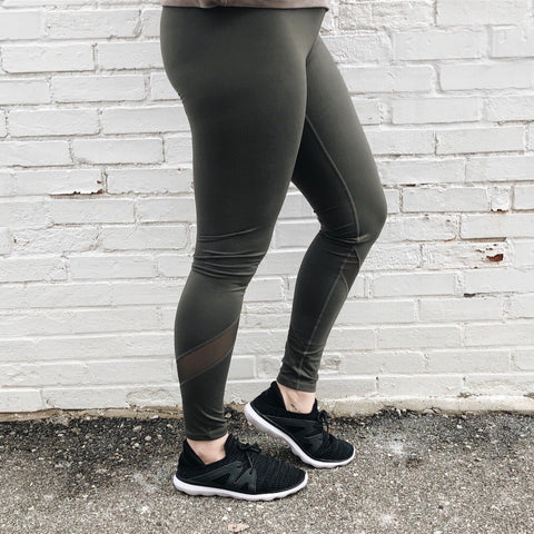 Athleisure Leggings • Olive or Black