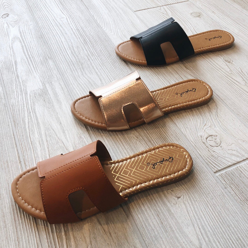 Slide Sandal • Rose Gold
