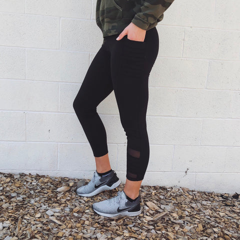 Pocket Leggings • Jet Black