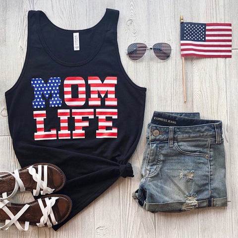 Mom Flag Print • Tee or Tank