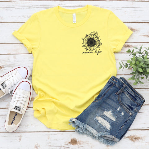 Mama Life • Sunflower Tee