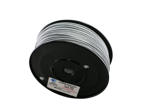 "1/8"" Galvanized Wire Rope CABLE  7 X 7  - 1,000ft - Oaks Distribution Inc"