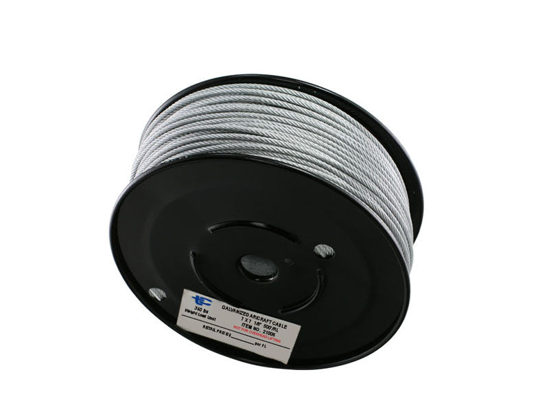 "1/8"" Wire Rope CABLE  7 X 7 Stainless Steel - Oaks Distribution Inc"
