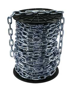 Grade 30 Proof Coil Chain - Bright Zinc Reels
