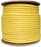 3 Strand Yellow PolyPro Rope - Oaks Distribution Inc - 1
