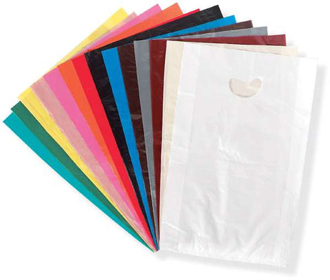 High Density Polyethylene Merchandise Bags - Assorted Colors - Oaks Distribution Inc - 1