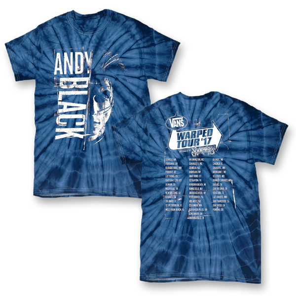 Cut Warped Tour Blue Tie Dye T-Shirt