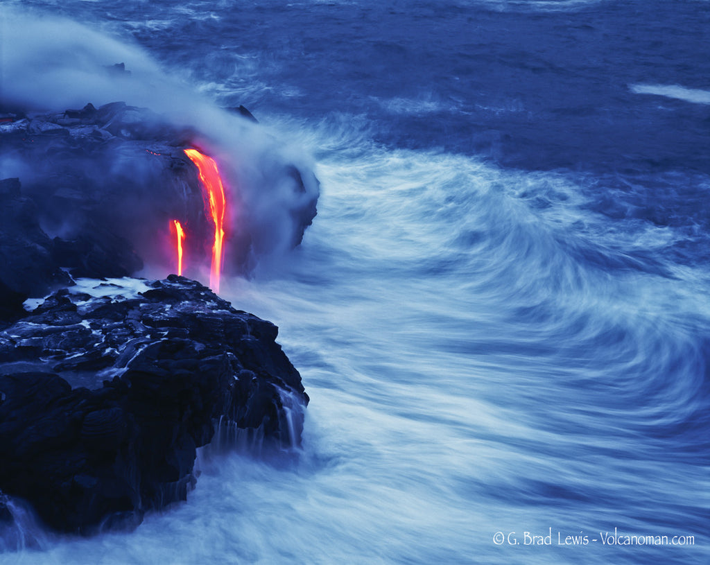 Ocean Song Lava Flow Big Island, Hawaii