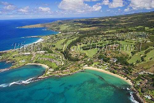 Aerial of Kapalua and Kapalua Bay, Maui, Hawaii Photo Stock Photo - Hawaiipictures.com