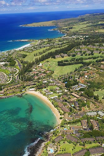 Aerial of Kapalua and Kapalua Bay, Maui, Hawaii Picture Photo - Hawaiipictures.com