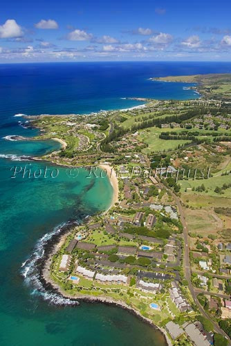 Aerial of Kapalua and Kapalua Bay, Maui, Hawaii - Hawaiipictures.com