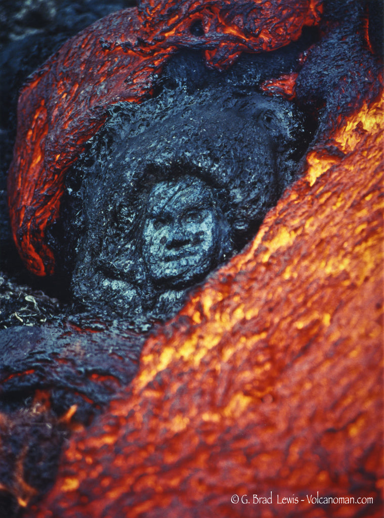 Pele Emerges lava flow face in lava Big Island- Hawaiipictures.com