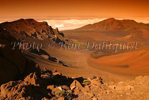 Scenic view of Haleakala Crater, Maui, Hawaii