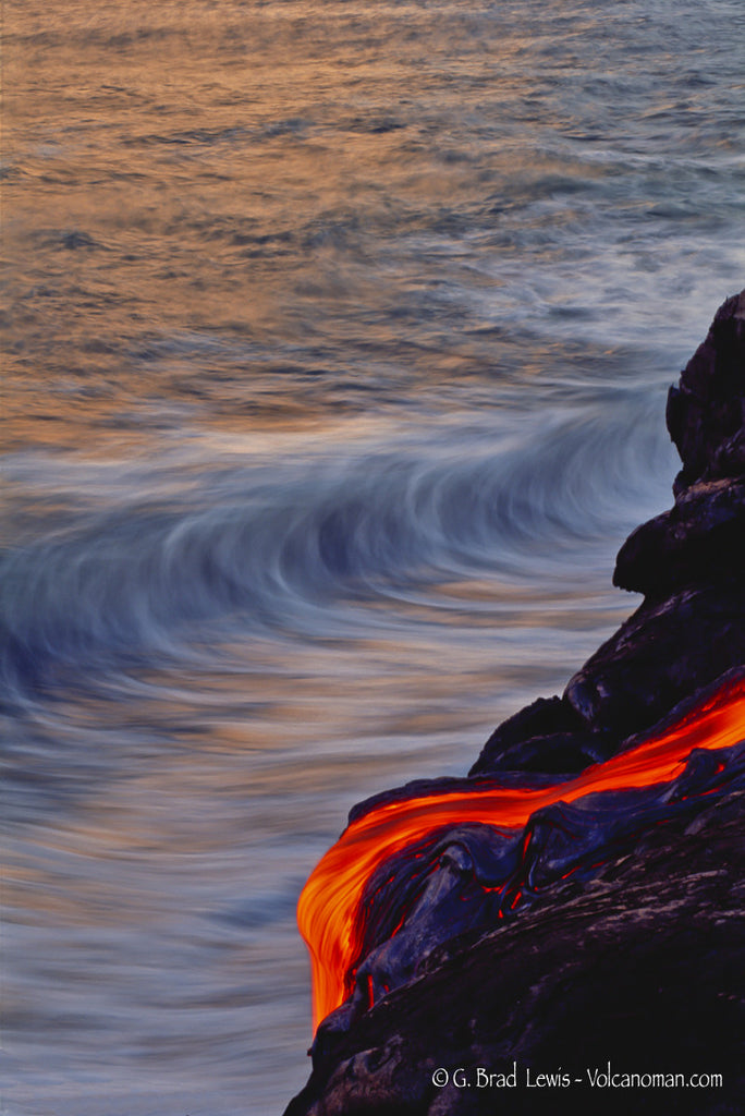 Endless Balance lava flow ocean Big Island-Hawaiipictures.com