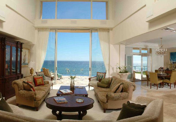 Great Room With 2 Story Ocean View