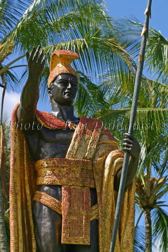 Statue of King Kamehameha in Hilo. Big Island of Hawaii - Hawaiipictures.com