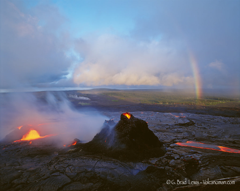Elements Volcano Lava Rainbow Big Island- Hawaiipictures.com