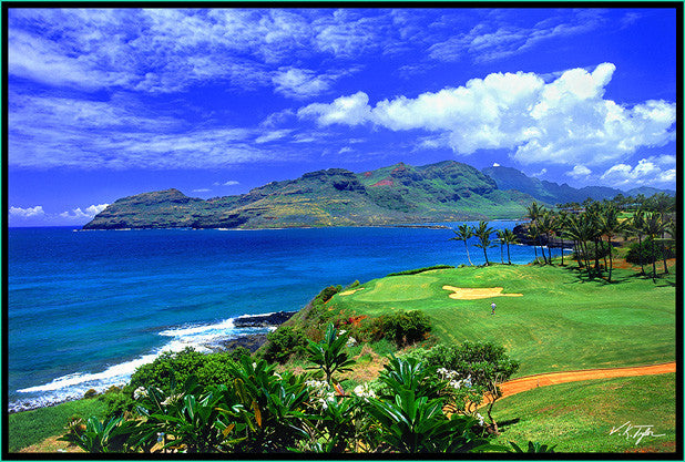 Golf at Nawiliwili Harbor by The Marriott Hotel Lihue Hawaii-Hawaiipictures.com