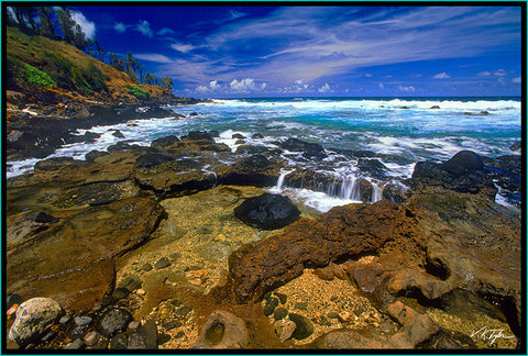 Ocean Shoreline Kealia East side of Kauai - Hawaiipictures.com