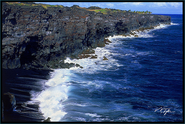 Big Island Coast Black Sand Beach - Hawaiipictures.com