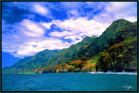 Napali Coast Daytime taken from a Boat Kauai-Hawaiipictures.com