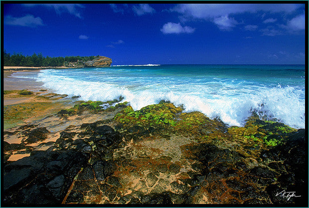 Shipwrecks Beach Keoneloa Beach in Poipu by Hyatt Hotel Kauai-Hawaiipictures.com