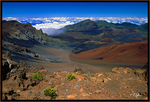 Daytime shot of Haleakala crater picture Maui-Hawaiipictures.com