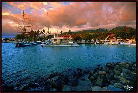 Lahaina Harbor Sunset Maui - Hawaiipictures.com