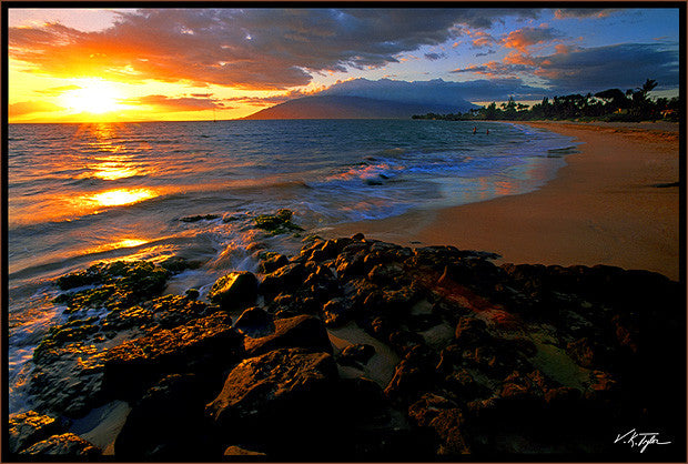 Maui Sunset Kamaole Beach Kihei- Hawaiipictures.com