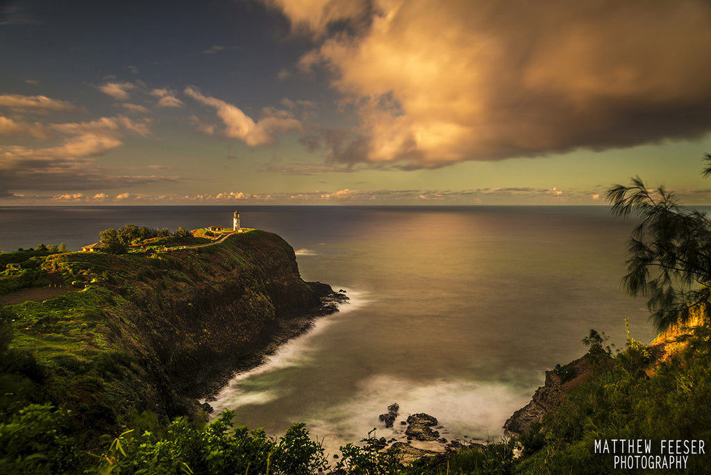 Kilauea Lighthouse Kauai Northshore slow exposure-Hawaiipictures.com