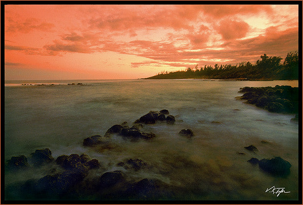 Seascape Sunset Kealia Kauai Hawaii-Hawaiipictures.com