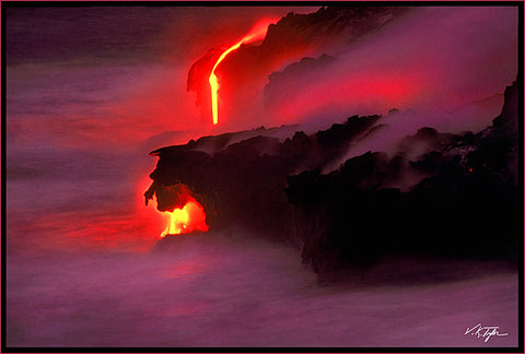 Evening Lava Glow Big Island Hawaii-Hawaiipictures.com
