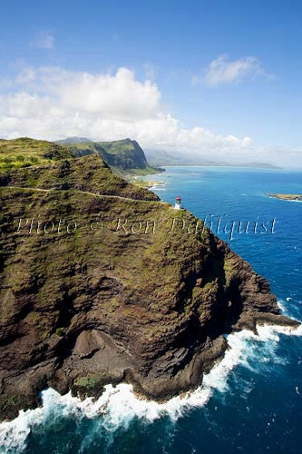 Hawaii, Oahu, Mokapuu Lighthouse, easternmost point on Oahu