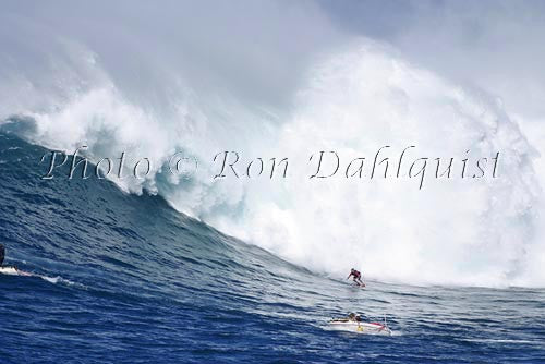 Surfer, Mark Anderson, at Jaws, Peahi, Maui, Hawaii - Hawaiipictures.com
