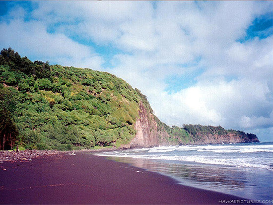 Black Sand Beach Picture - Hawaiipictures.com
