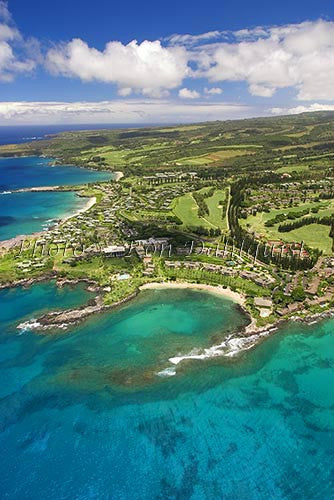 Aerial of Kapalua and Kapalua Bay, Maui, Hawaii Picture - Hawaiipictures.com
