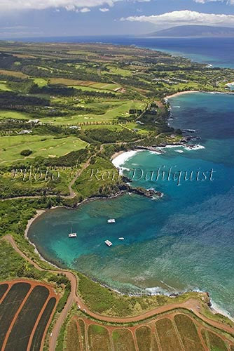 Aerial view of Kapalua and golf courses in Maui, Hawaii - Hawaiipictures.com